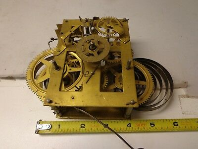 Unknown American Clock Movement With Alarm for Parts or Restore