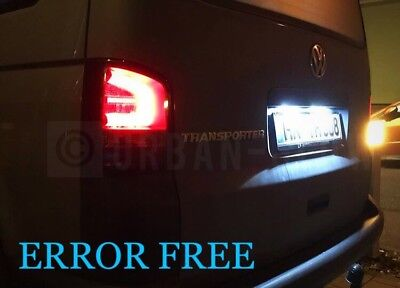 VW T5 TRANSPORTER LED Xenon ice White Number Plate LIGHT Bulbs ERROR FREE CADDY