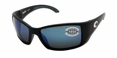 f776fc261d Costa del Mar Blackfin BL 11 OBMGLP Matte Black   Blue Mirror 580G Polarized