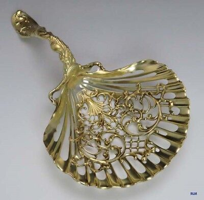 Late 1800's Early 1900's Antique Whiting Sterling Silver Pierced Shell Server