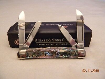 Case Brothers 2003 Paua Abalone Pearl 4 Blade Congress Knife Case XX USA 84052SS