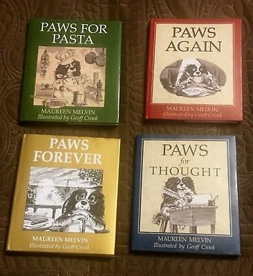 Set Of 4 Book By Maureen Melvin ~ Cavalier King Charles Spaniel Dog Story Books