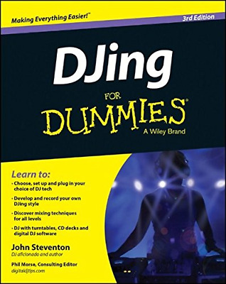 DJing for Dummies 3E (Paperback) New Book