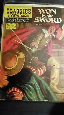 Classics Illustrated no 83.....won by the sword