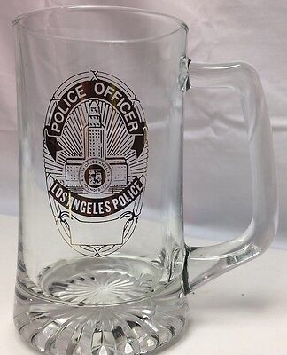 LAPD Glass Beer Mug With Handle Los Angeles Police Department