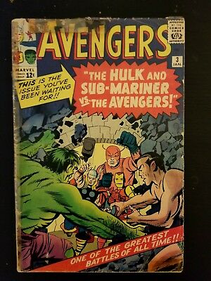 Avengers #3 January 1964 Issue - Used, fine condition