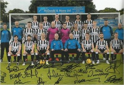 "Elgin City Signed Team Photo  2017 7"" X 5"""