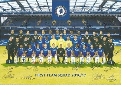 "Chelsea FC Signed First Team Photo  2016 2017 7"" X 5"""
