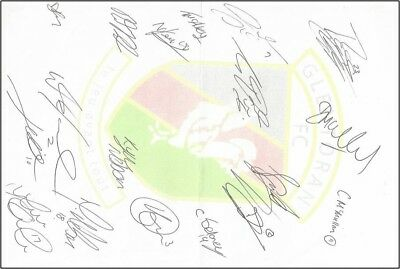 "Glentoran Football Club Signed Team Photo  2017 6"" X 4"""
