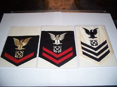 Vintage Navy Rating Patch Lot Boatswains Mate