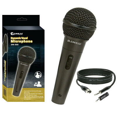 Sansai Dynamic Professional Vocal Microphone Corded Mic for PA Speaker/Studio