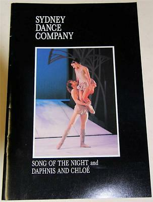 Sydney Dance Company Song Of The Night 1989 Souvenir Theatre Program - Excellent