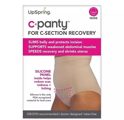 UpSpring Baby C-Panty High Waist Incision Care - Nude - Small/Medium