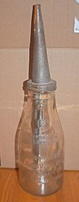 Handy Oiler One Quart Motor Oil Bottle - Danville, Indiana Patented 11/28/22