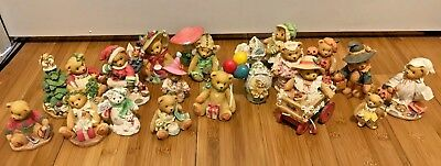BIG LOT OF 18 Cherished Teddies Figurines HOLIDAY ASSORTMENT ENESCO EUC