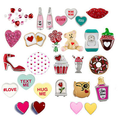 Origami Owl NEW Valentines Day Charms~ Brand new and NLA HTF! FREE STARDUST w/ 4