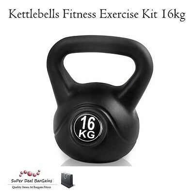 Kettlebells Fitness Exercise Kit 16kg Dumbell Gym Abs Muscles Cardio Work Out