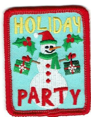 boy girl cub HOLIDAY PARTY Christmas Fun Patches Crests Badges SCOUT GUIDES