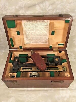 Vintage US Maritime Commission Stadimeter in Wood Case Made by Schick Inc