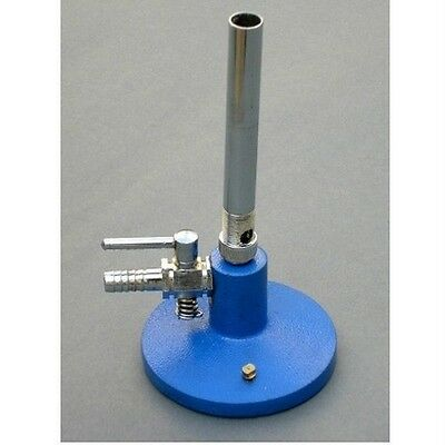 BUNSEN BURNER WITH STOP COCK in blue base or Heating & Cooling BUNSEN Burners