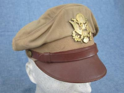 Org WW2 US Army Air Force Bancroft Flighter 50 Mission Crusher Cap Hat ID'D POW