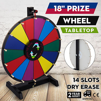 """18"""" Tabletop Color Prize Wheel Spinnig Game Stand Holiday Food Service Fortune"""