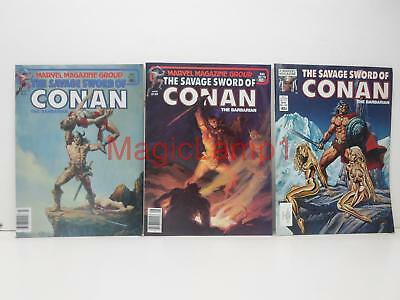 Lot of 3 Assorted Savage Sword Of Conan The Barbarian 66 79 100