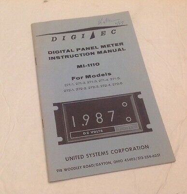 Digitec Panel Meter Instruction Manual MI-1110