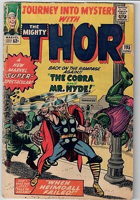 Mighty Thor Journey Into Mystery Marvel Silver Age 1964 #105 Kirby Ragnarok NR