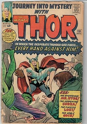 Mighty Thor Journey Into Mystery Marvel Silver Age 1964 #110 Kirby Ragnarok NR