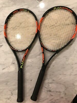 Wilson Pro Stock Tennis Racket (Matched Pair) Burn 100 1/4 Used