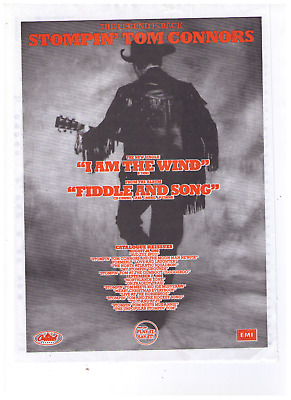 "1989 Stompin' Tom Connors ""Fiddle and  Song"" Album Release Print Advertisement"