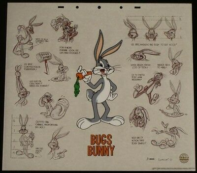 Bugs Bunny Cartoon Animation Cel Art Background