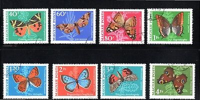Hungary 1969 Butterflies and Moths SG 2439/46 Used