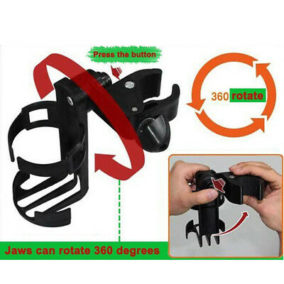 Durable Baby Stroller Cup Holder Stand Rotating Pushchair Drink CMX