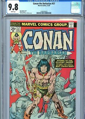 Conan the Barbarian #57 CGC 9.8 White Pages Mike Ploog Art Marvel Comics 1975