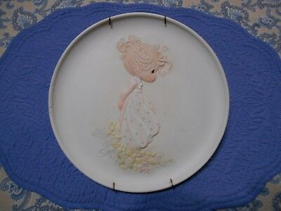 Precious Moments Plate Four Seasons Series Autumn's Praise with Plate Holder