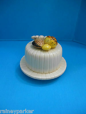 1976 Fitz & Floyd Seashell Trinket Box Condiment Jewelry Holder Covered Lid