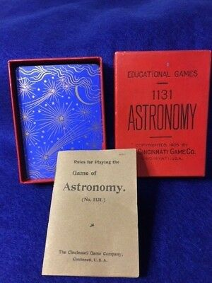 1905 Astronomy # 1131 Complete Card Game  Unused in Original Box w/ inst.