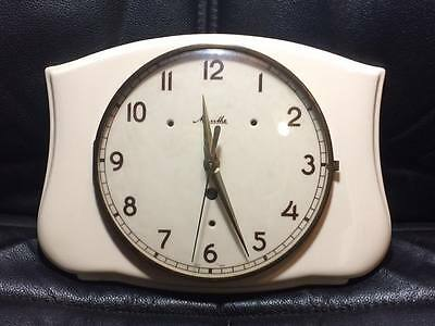 Antique ceramic  Mauthe wall clock made in Germany