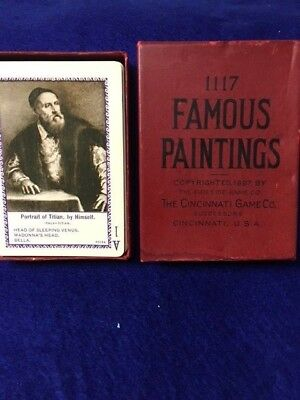 1897 Famous Paintings # 1117 Complete Card Game  Unused in Original Box w/ inst.