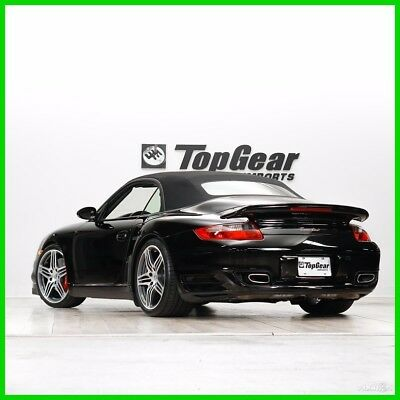 2008 Porsche 911 Turbo 2008 Porsche 911 Turbo Cabriolet 6-Speed Manual Black with Sports Seats