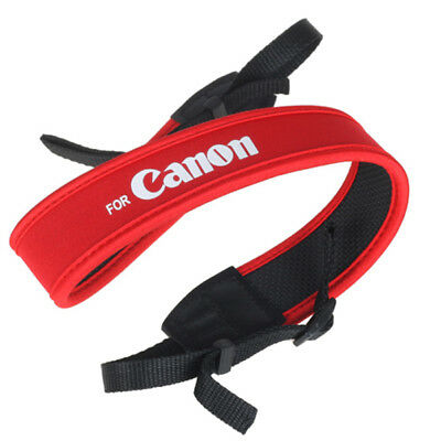 Neoprene Camera DSLR Film Universal Adjustable Strap made for Canon Red New