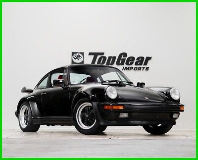 1987 Porsche 911 930 Turbo 1987 Porsche 930 Turbo Rare Black over Red Sports Seats