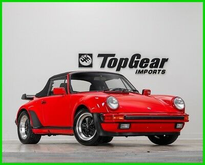 1989 Porsche 911 930 Turbo Cabriolet 1989 Porsche 930 Turbo Cabriolet G50 5-Speed Manual Transmission