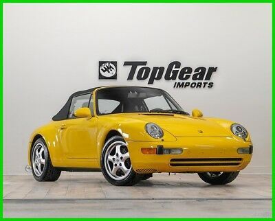 1996 Porsche 911 Carrera 1996 Porsche 911 C2 Cabriolet 6-Speed Manual in Speed Yellow over Black