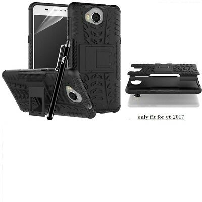 Case Cover Huawei Y6 2017  Heavy Duty Armour Shock Proof Builder Hard Back Case
