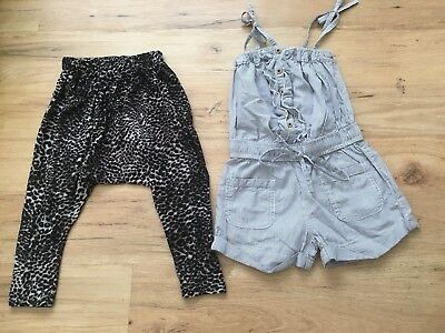 Zara Girl Harlem Pant & Cotton On Romper Sz3 Small Made