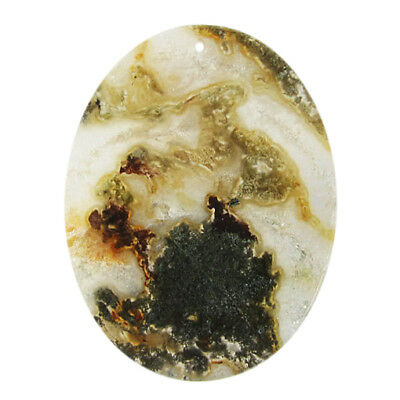 Multi-Color Moss Agate Pendant bead BV001047