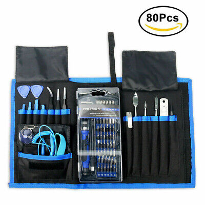 80 in 1 Precision Screwdriver Set Repair Tool 56 bits Magnetic driver Kit AU NEW